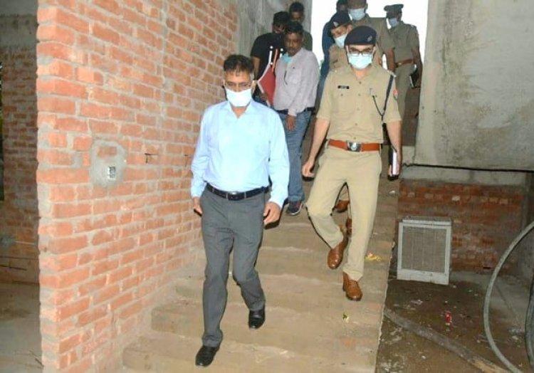 पुलिस कमिश्नर ने किया पुलिस लाइन में चल रहे निर्माण कार्यों का निरीक्षण, शीघ्र कार्य पूरा करने की दी हिदायद