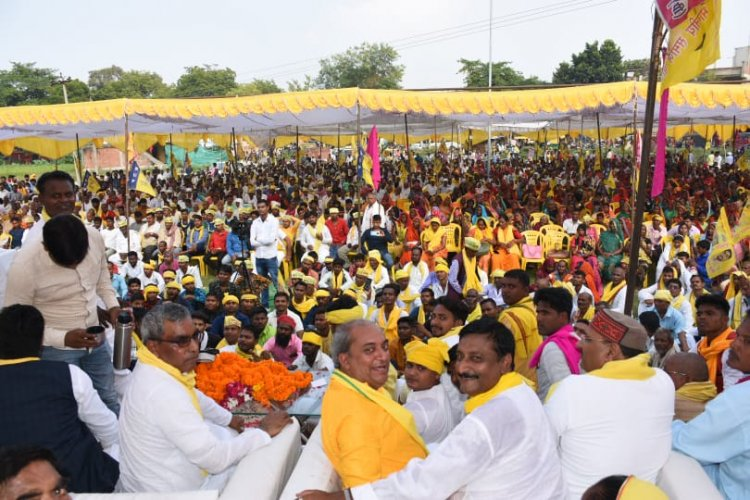 UP में नहीं है कानून का राज: जनसभा में ओपी राजभर बोले महंगाई की मार से जनता परेशान, 403 सीटों पर लड़ेंगे चुनाव